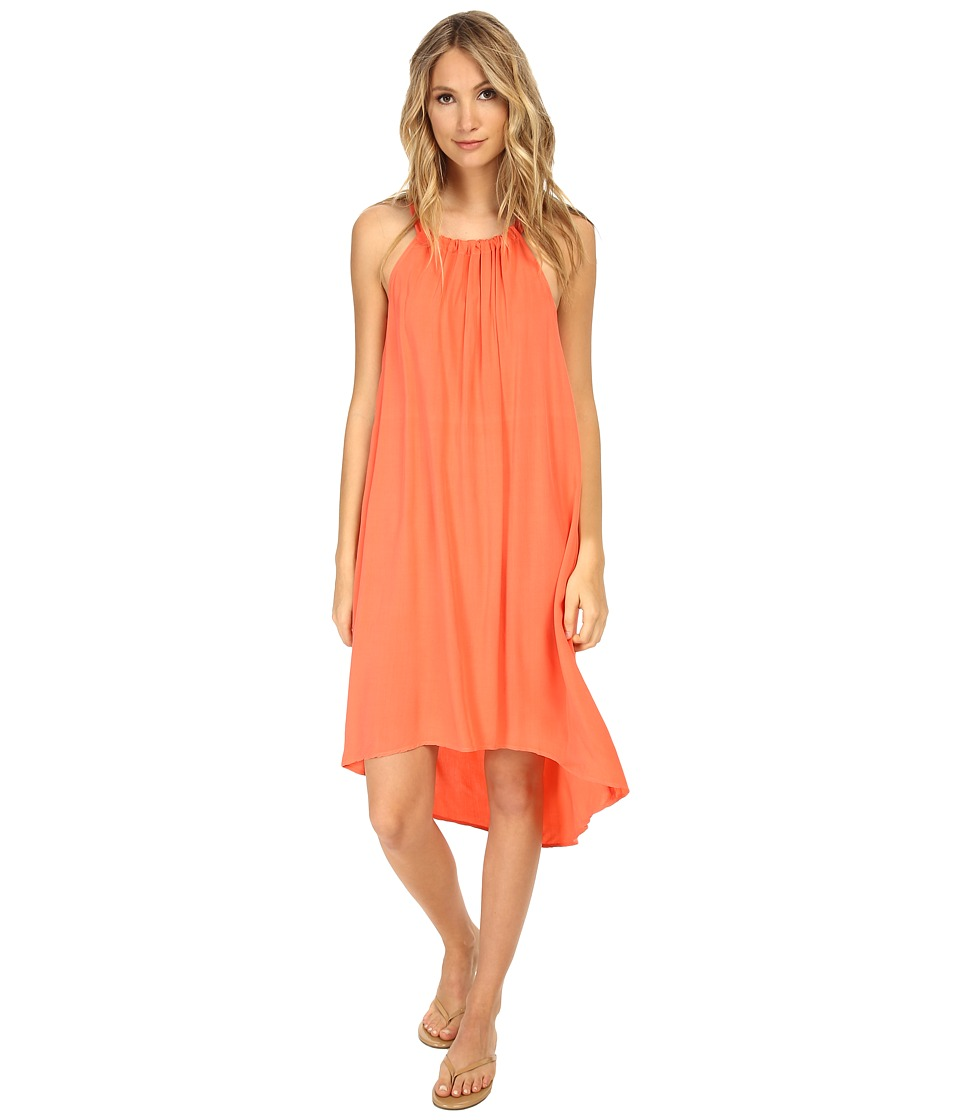 Splendid - Halter Rayon Dress (Guava) Women's Dress