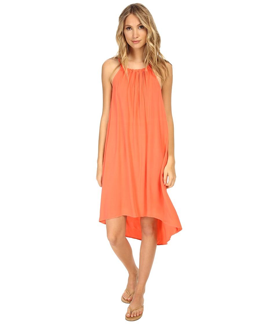 Splendid - Halter Rayon Dress (Guava) Women's Dress