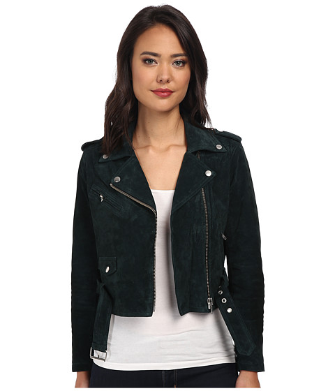 Obey - City Moto Suede Jacket (Emerald) Women's Coat