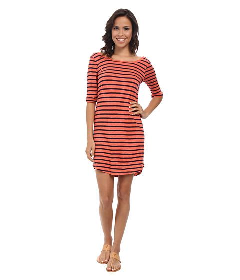 Splendid - Navy Venice Stripe Dress (Guava) Women's Dress