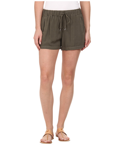 Splendid - Rayon Voile Shorts (Dusty Olive) Women's Shorts