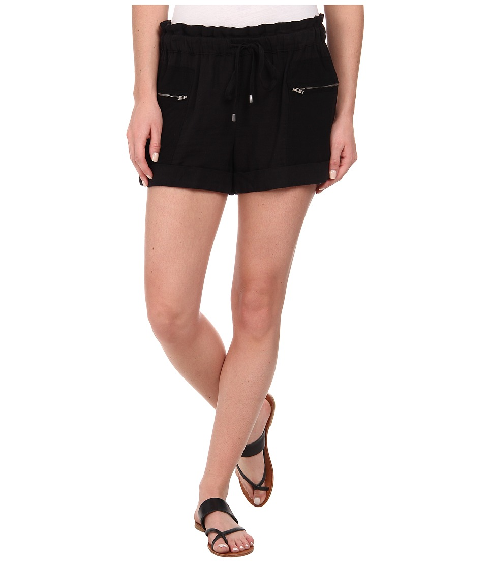 Splendid - Double Cloth Shorts (Black) Women's Shorts