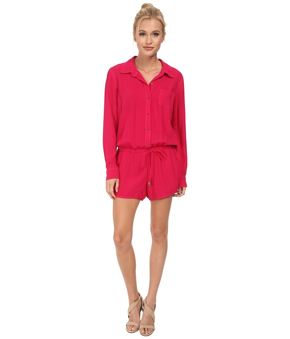 Splendid - Rayon Voile Jumpsuit (Rasberry) Women