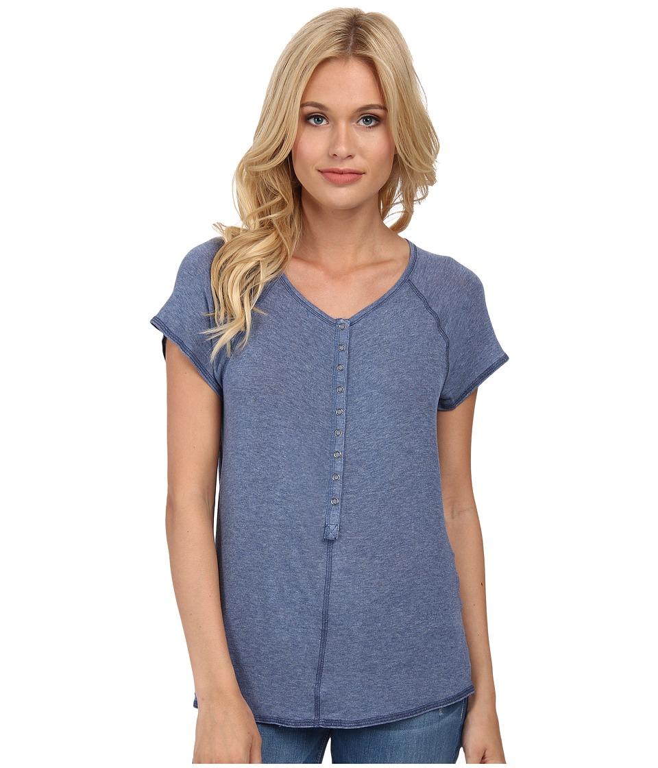 Splendid - Drapey Lux Henley Tee (Chambray 2) Women's T Shirt