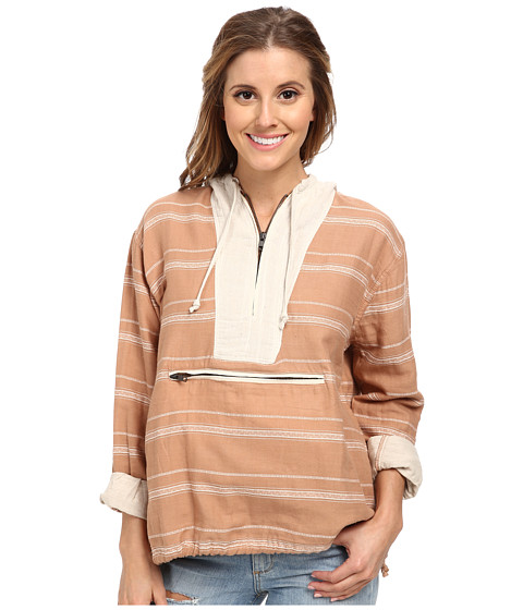 Obey - Hillhurst Anorak Jacket (Camel) Women's Long Sleeve Pullover
