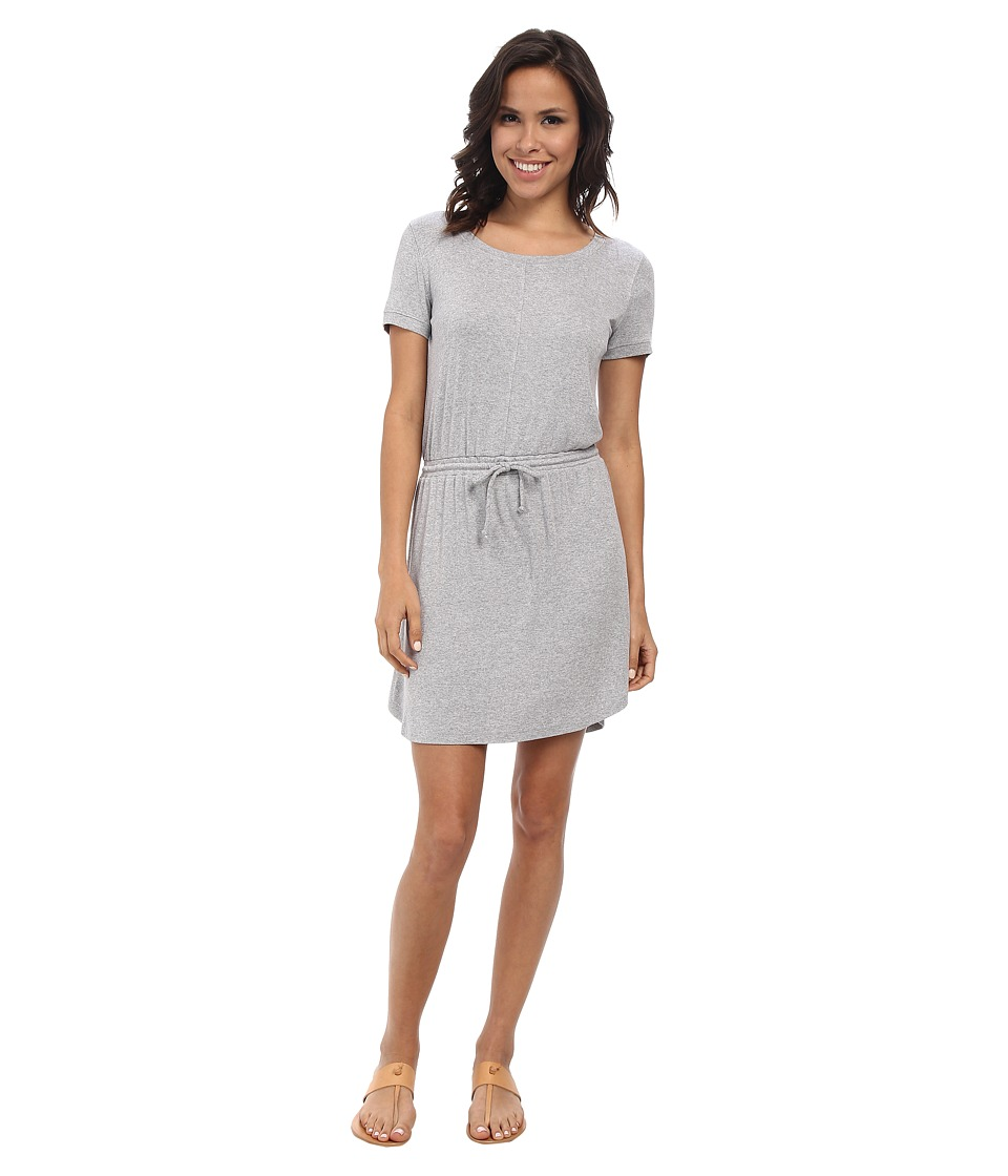 Splendid - Ribbed T-Shirt Dress (Heather Grey) Women's Dress