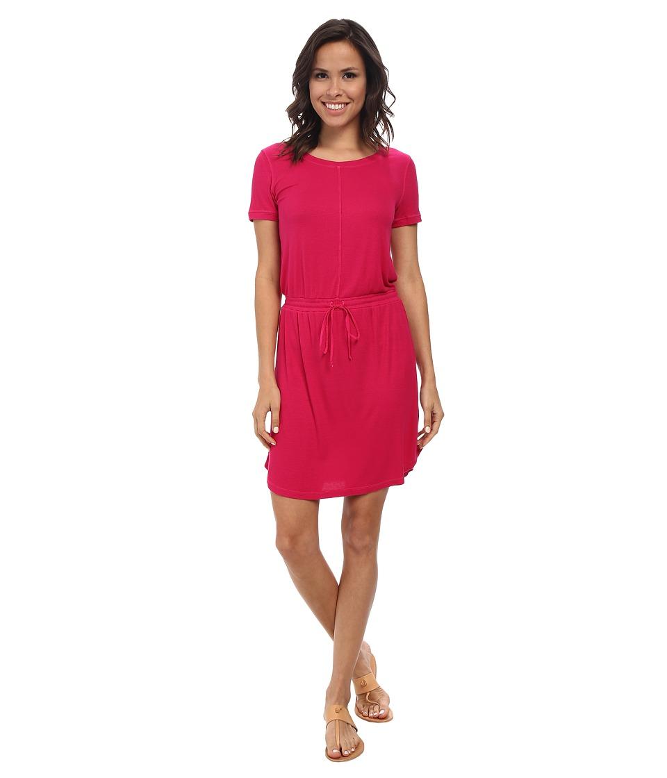Splendid - Ribbed T-Shirt Dress (Rasberry) Women