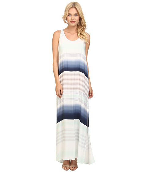 Splendid - Tropical Stripe Maxi Dress (Stone Blue/Surf Spray) Women's Dress