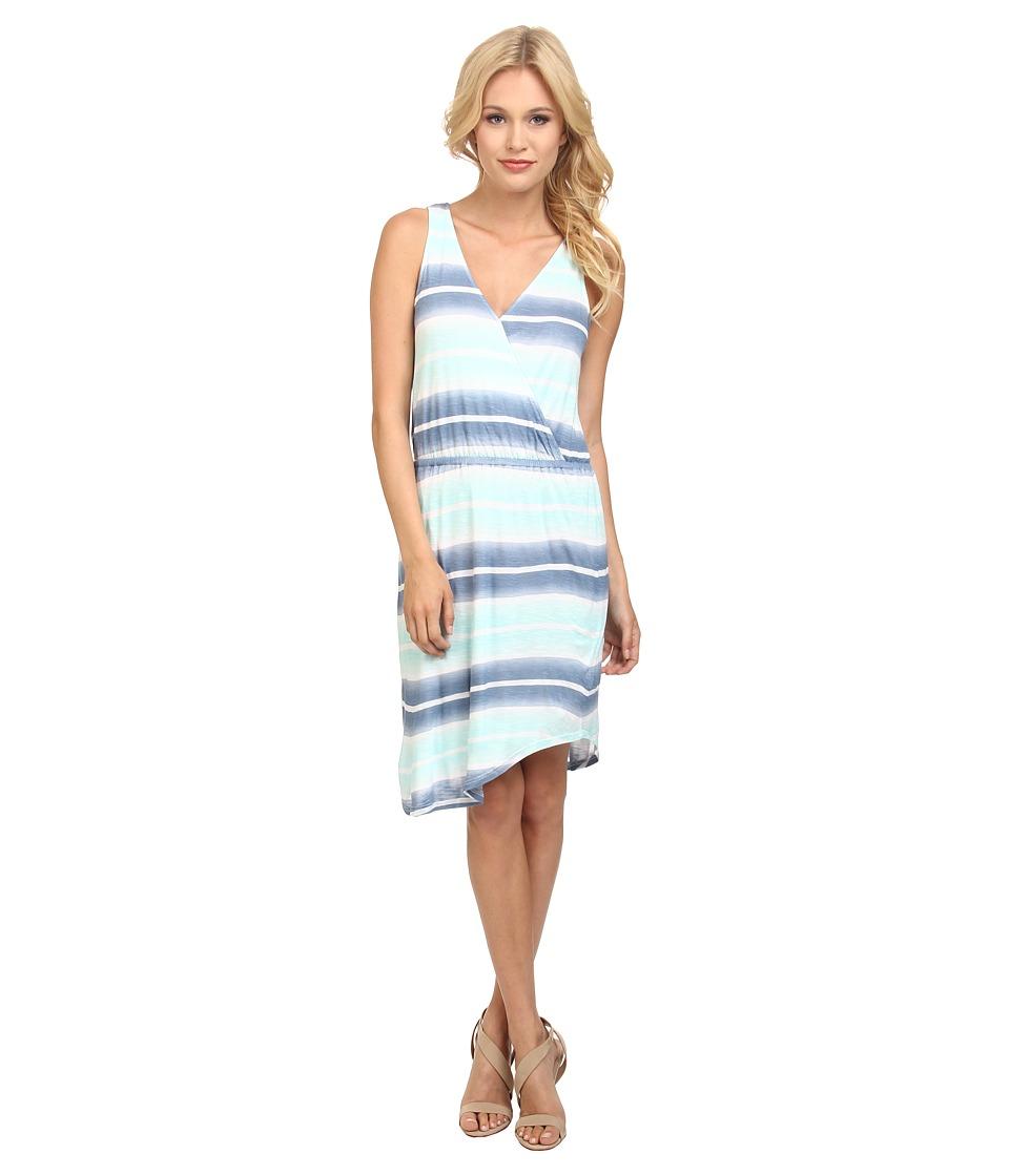 Splendid - Caribbean Stripe Dress (Stone Blue/Surf Spray) Women