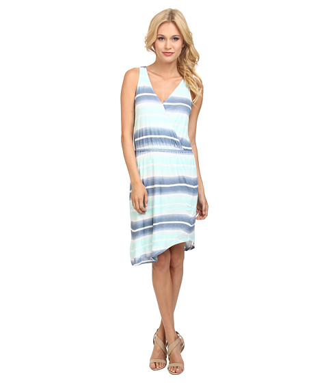 Splendid - Caribbean Stripe Dress (Stone Blue/Surf Spray) Women's Dress