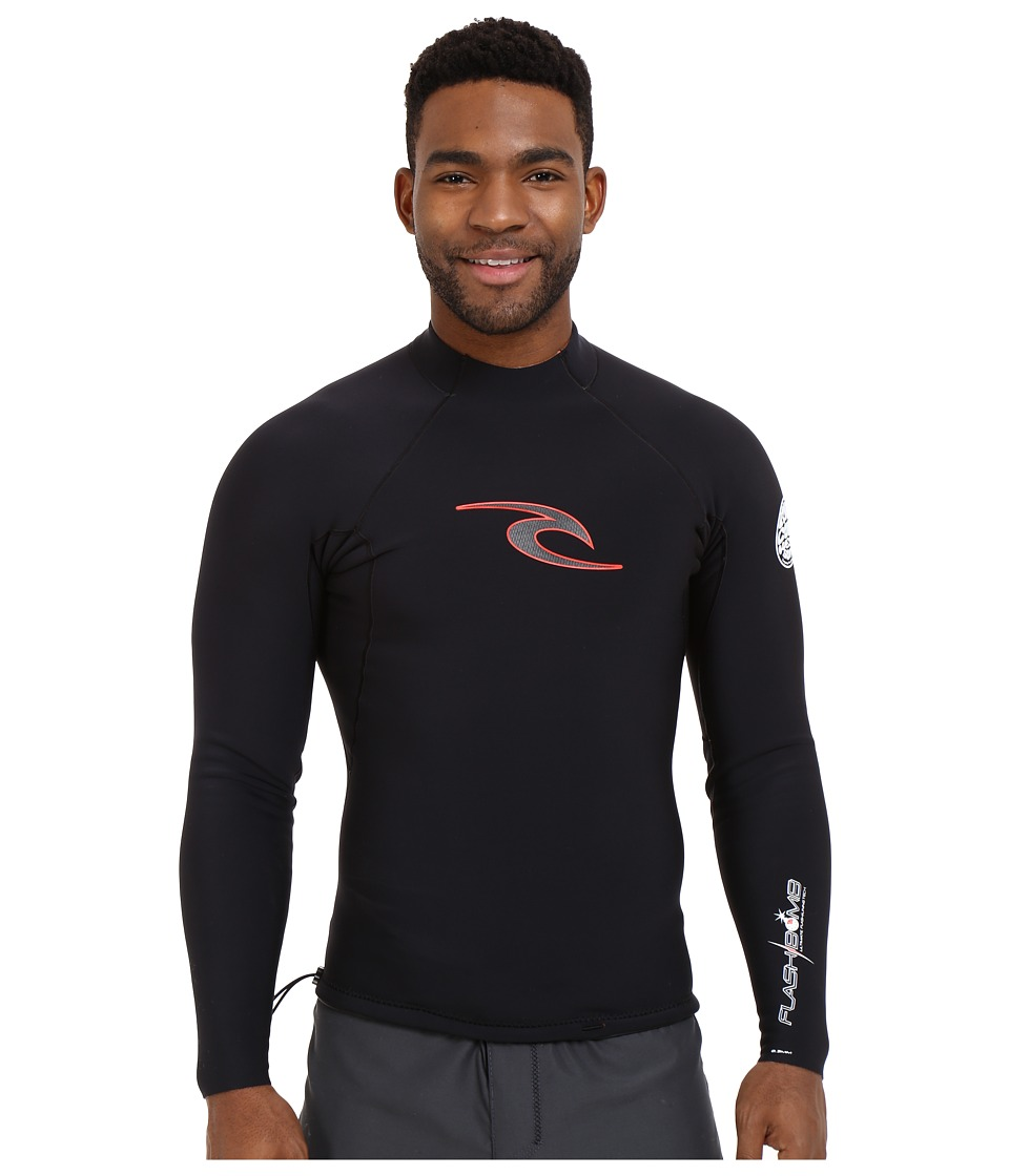 Rip Curl - Flash Bomb Long Sleeve Jacket (Black) Men's Swimwear