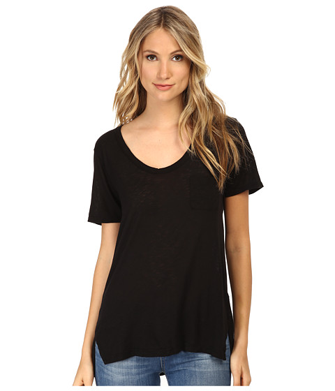 Splendid - Slub Tees Tee (Black) Women's T Shirt
