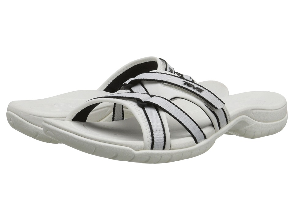 Teva - Tirra Slide (Black/White) Women's Slide Shoes