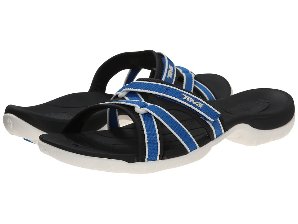 Teva - Tirra Slide (Royal Blue) Women's Slide Shoes plus size,  plus size fashion plus size appare