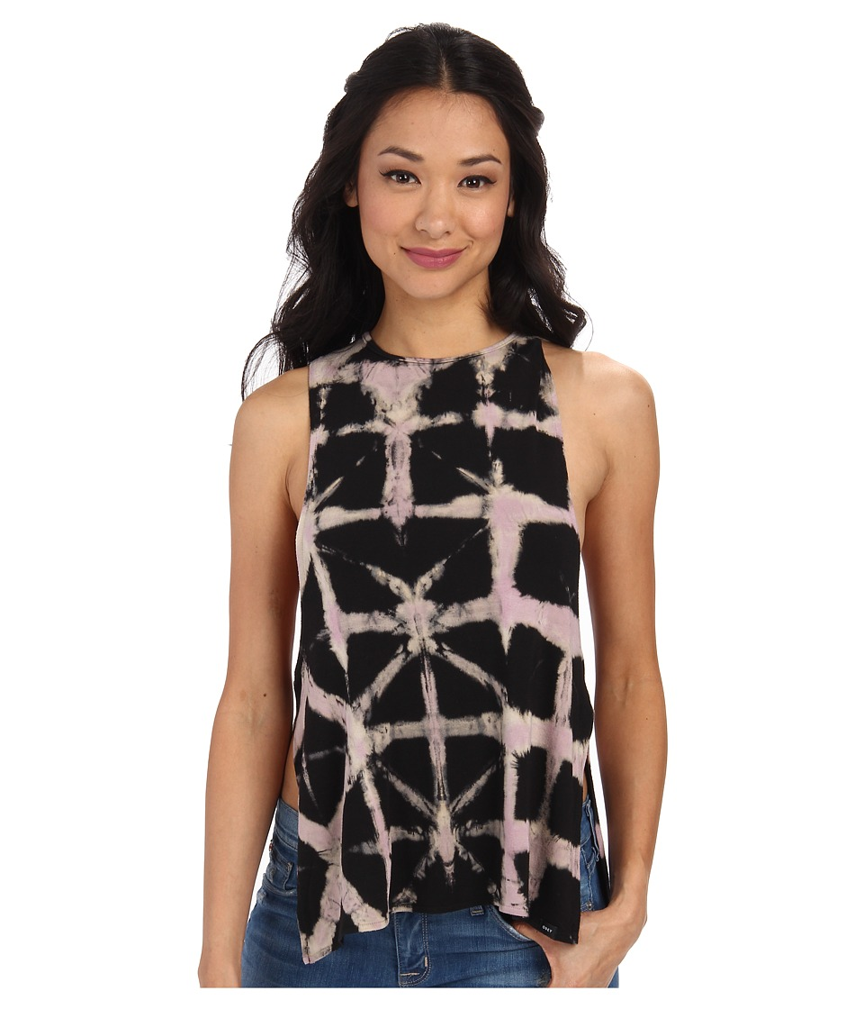 Obey - Side Slit Tank Top (Stain Glass Tie-Dye) Women's Sleeveless