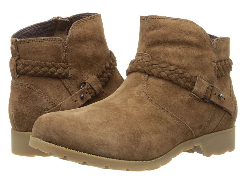 50e6622e93bbd7 ... 6.5 UPC 888855293460 product image for Teva - Delavina Ankle Suede  (Bison) Women s Zip Boots