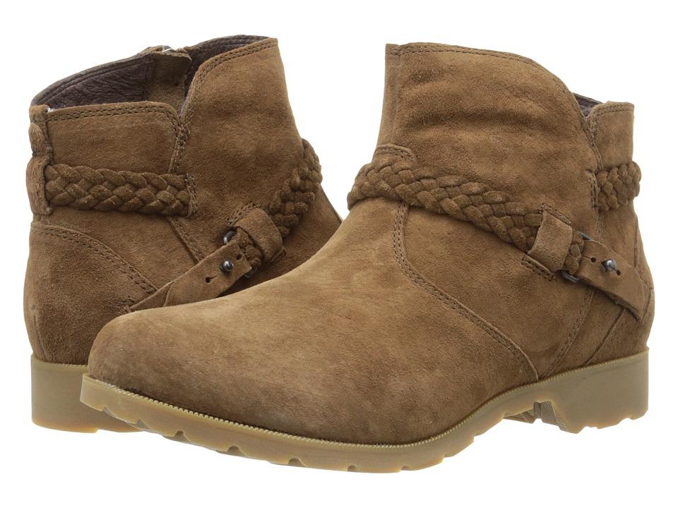 Teva - Delavina Ankle Suede (Bison) Women's Zip Boots