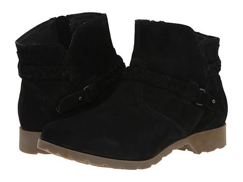 Teva - Delavina Ankle Suede (Black) Women's Zip Boots