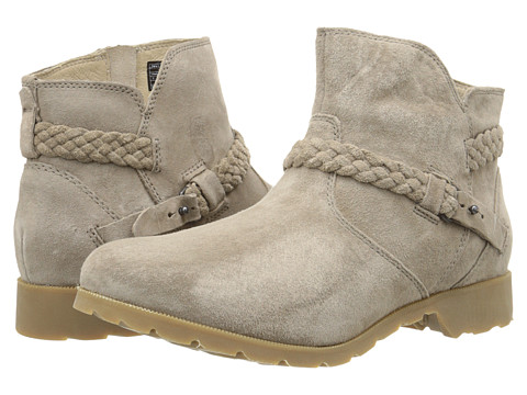 Teva - Delavina Ankle Suede (Desert Taupe) Women's Zip Boots
