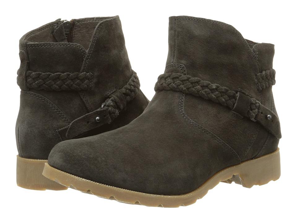 Teva - Delavina Ankle Suede (Black Olive) Women's Zip Boots