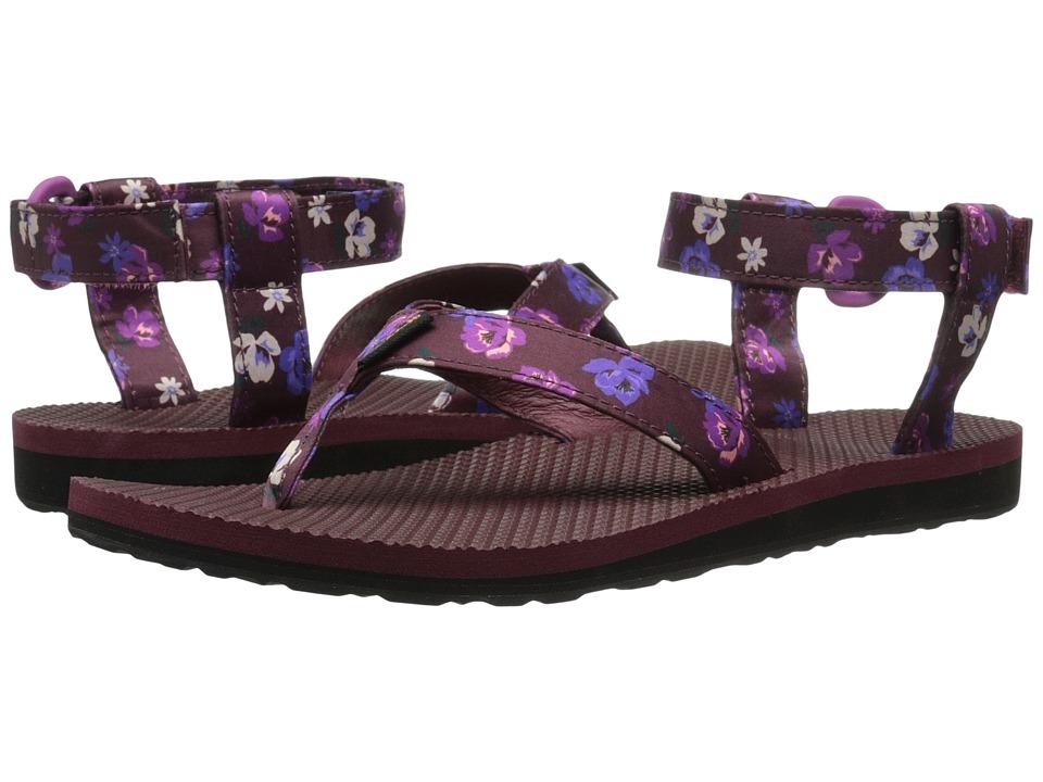Teva Original Sandal Floral Satin (Zinfandel) Women