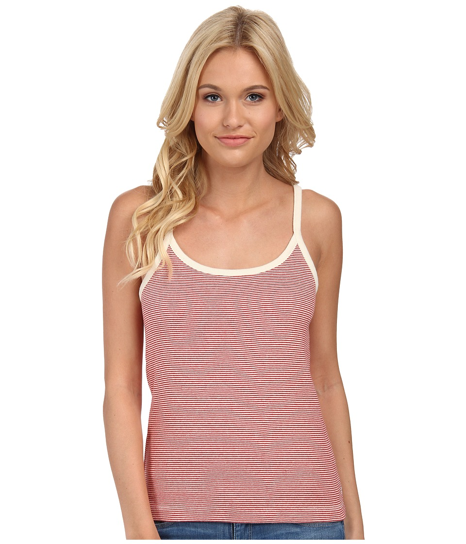 Obey - Parker Tank Top (Cream/Red) Women's Sleeveless