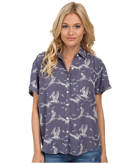 Obey - Wyatt Shirt (Blue Multi) Women's Short Sleeve Button Up