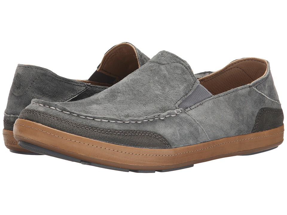 OluKai - Puhalu (Charcoal/Dark Shadow) Men's Slip on Shoes