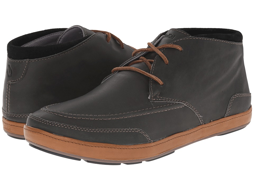 OluKai - Pala (Dark Shadow/Black) Men's Lace up casual Shoes
