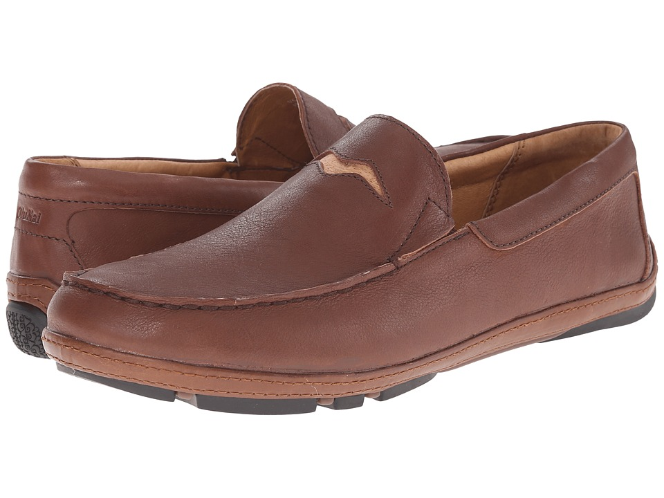 OluKai - 'Iwa (Rum/Toffee) Men's Slip on Shoes