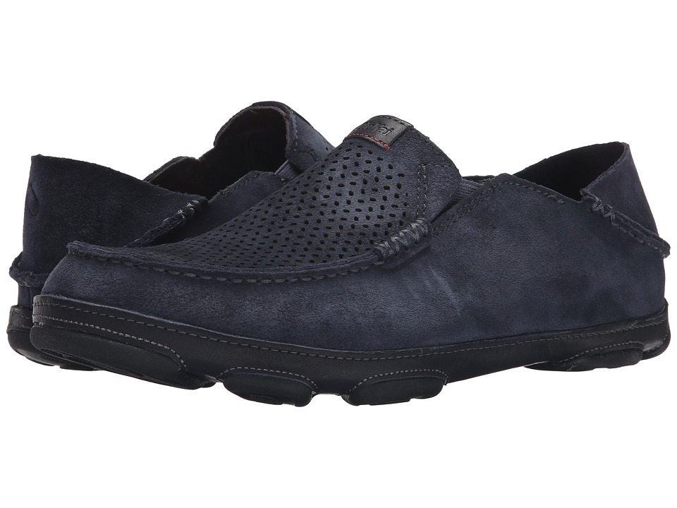 OluKai - Moloa Kohana (Carbon/Carbon) Men's Slip on Shoes