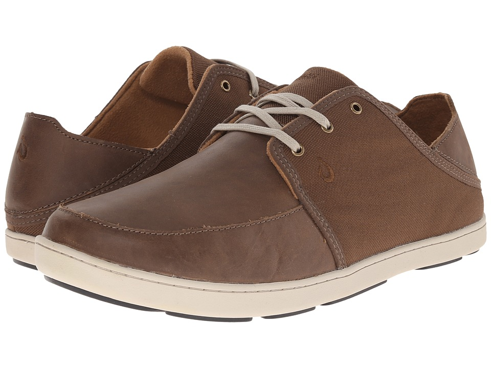 OluKai - Nohea Lace Leather (Mustang/Mustang) Men's Lace up casual Shoes
