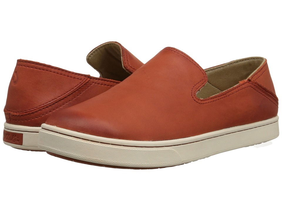 OluKai - Kailua (Blood Orange/Blood Orange) Women's Slip on Shoes