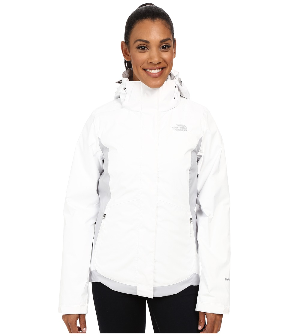 The North Face - Mossbud Swirl Triclimate Jacket (TNF White/High Rise Grey) Women's Coat