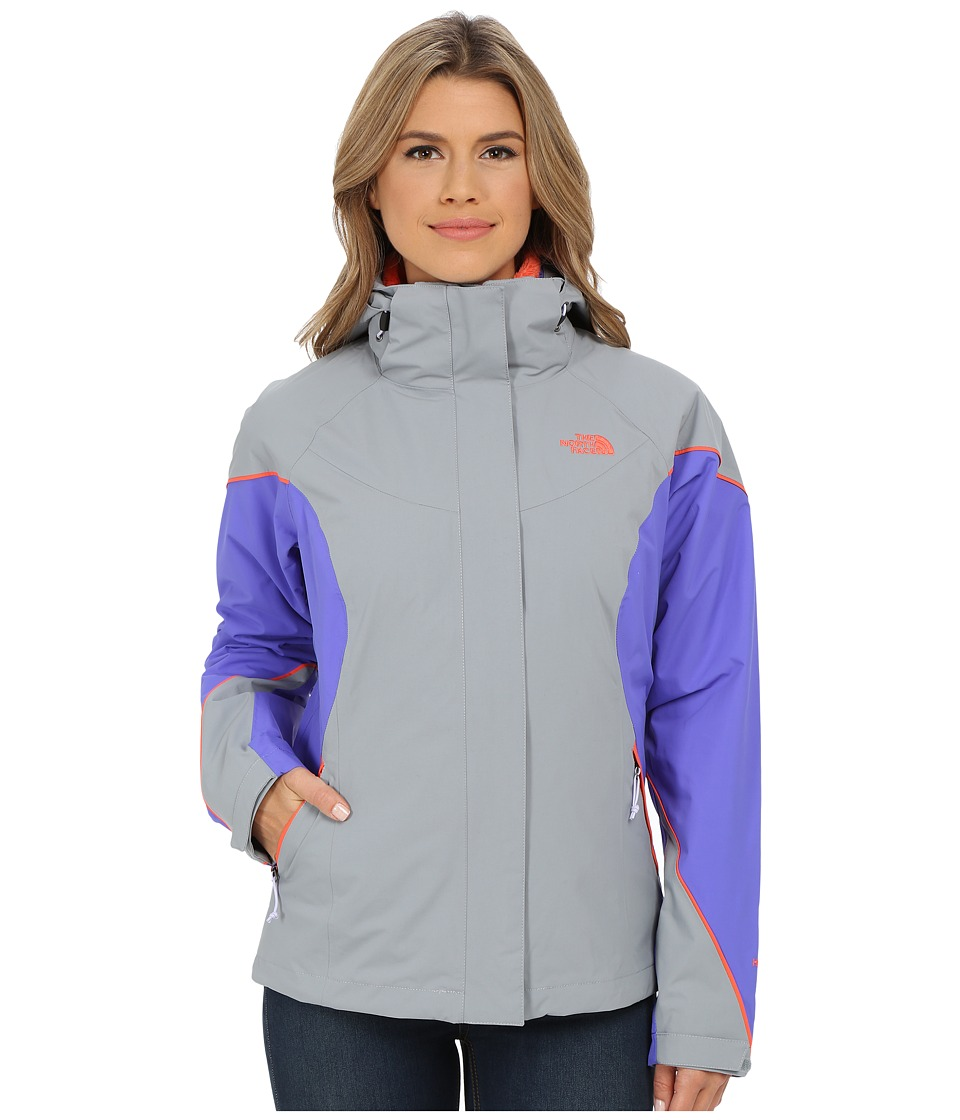 The North Face Boundary Triclimate Jacket (Mid Grey/Starry Purple/Radiant Orange) Women