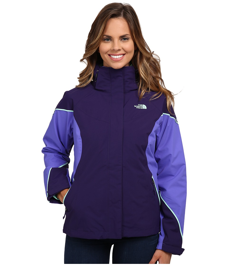 The North Face Boundary Triclimate Jacket (Garnet Purple/Starry Purple/Surf Green) Women