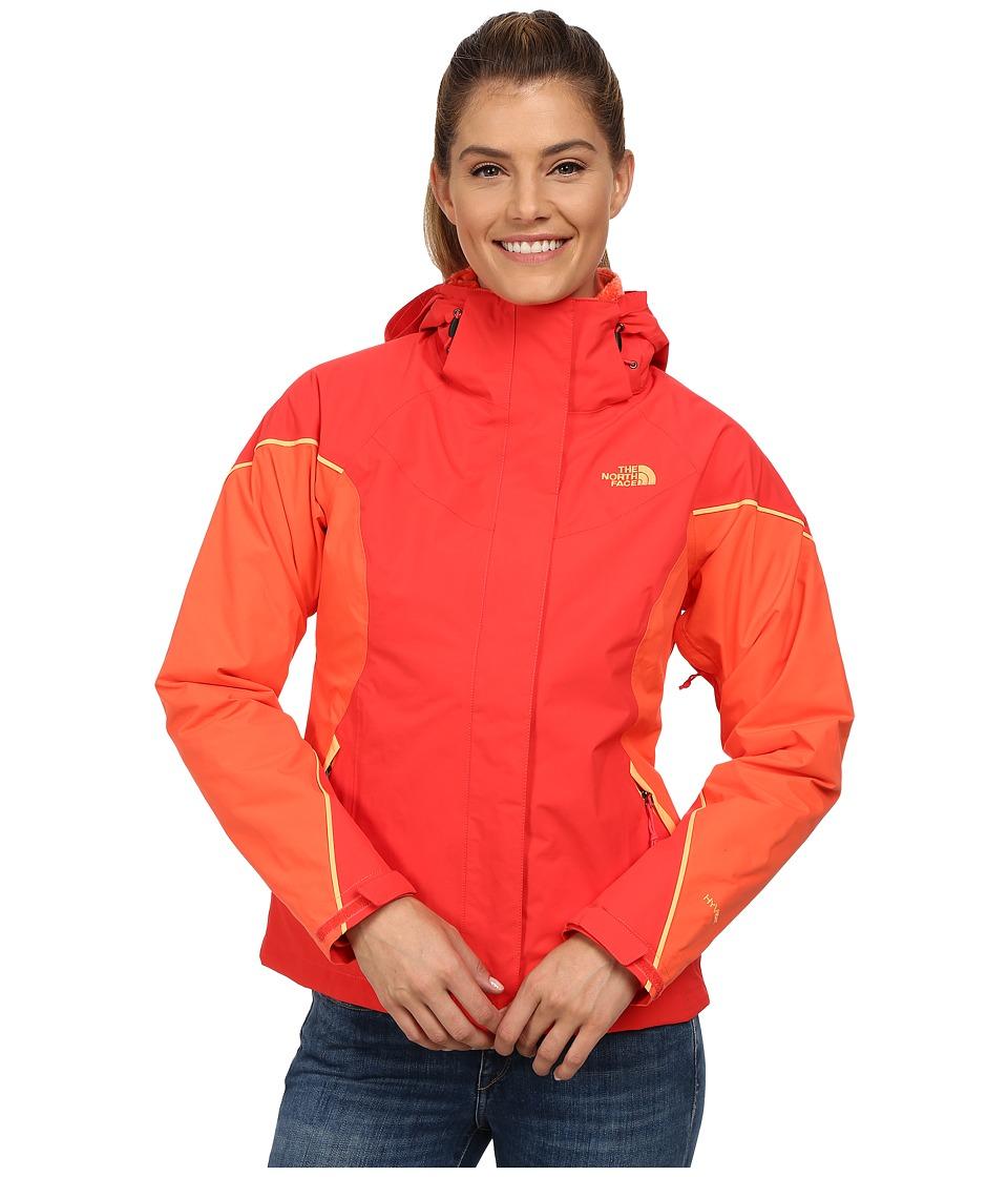 The North Face - Boundary Triclimate Jacket (Melon Red/Radiant Orange/Impact Orange) Women's Coat
