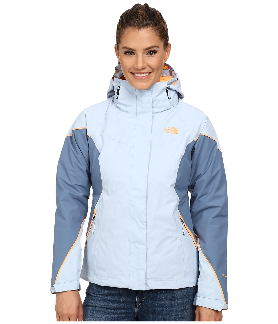 The North Face - Boundary Triclimate Jacket (Tofino Blue/Cool Blue/Impact Orange) Women