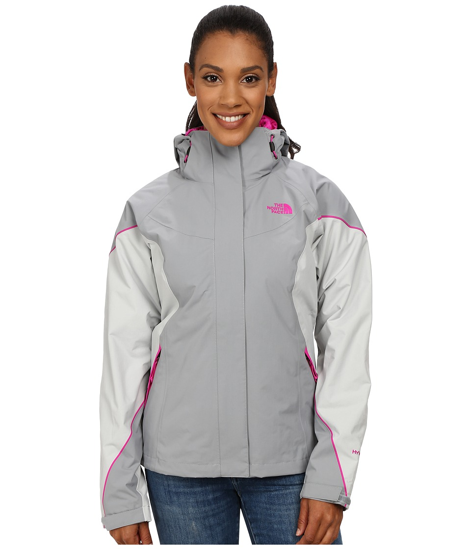 The North Face - Boundary Triclimate Jacket (Mid Grey/High Rise Grey/Luminous Pink) Women's Coat