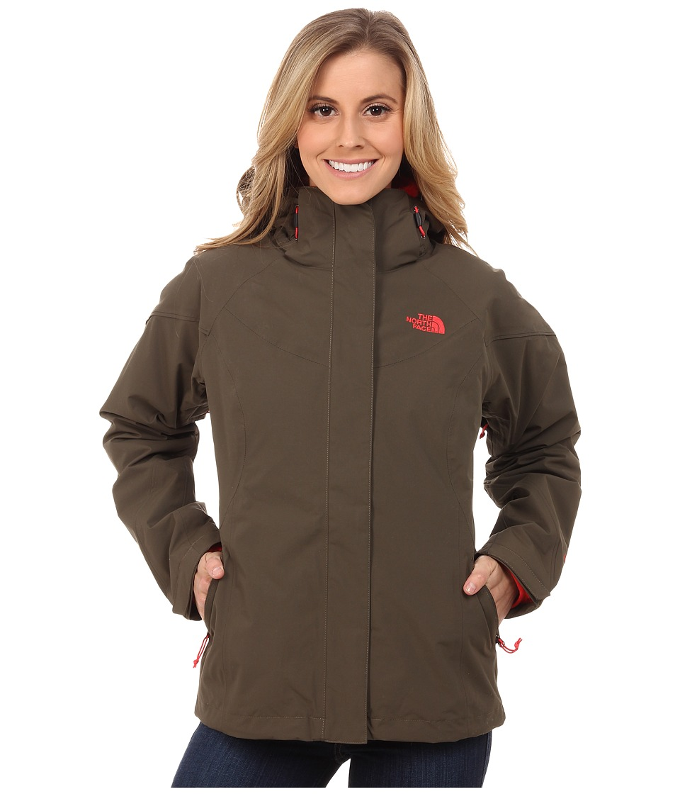 The North Face - Boundary Triclimate Jacket (New Taupe Green/New Taupe Green/Melon Red) Women's Coat