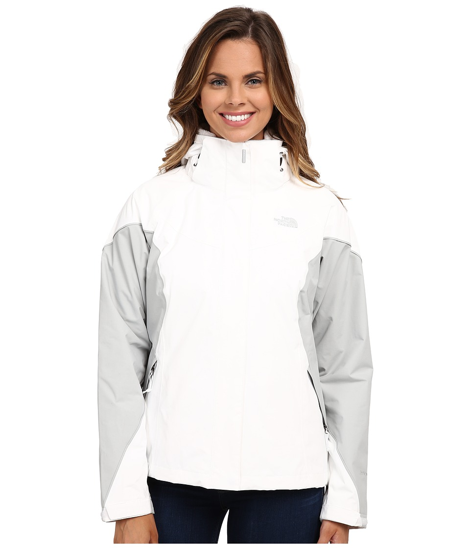 The North Face - Boundary Triclimate Jacket (TNF White/High Rise Grey/High Rise Grey) Women