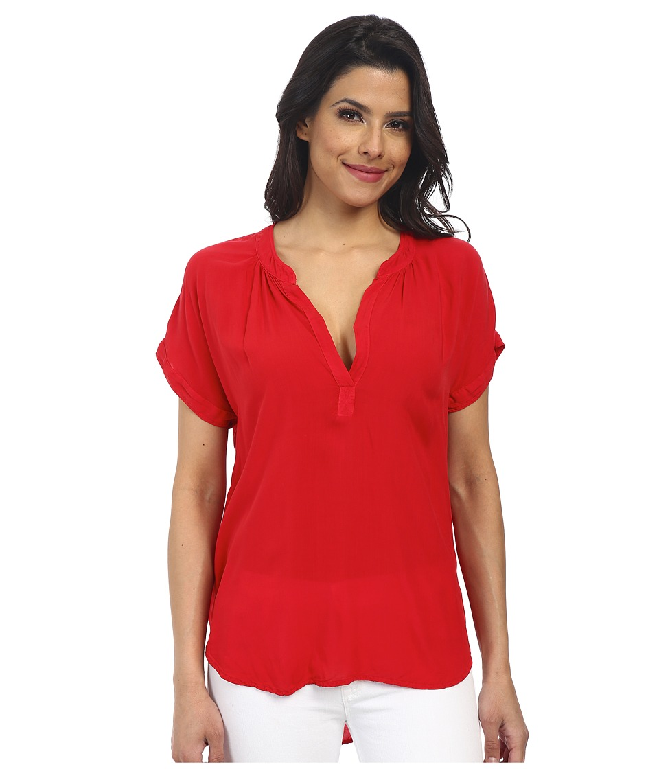 Velvet by Graham & Spencer - Chazmin Short Sleeve Challis Top (Sport) Women's Blouse