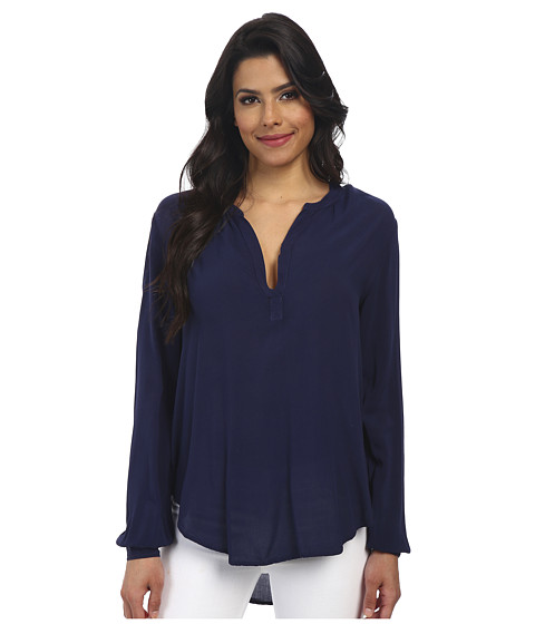 Velvet by Graham & Spencer - Rosie Long Sleeve Challis Top (Postman) Women's Blouse
