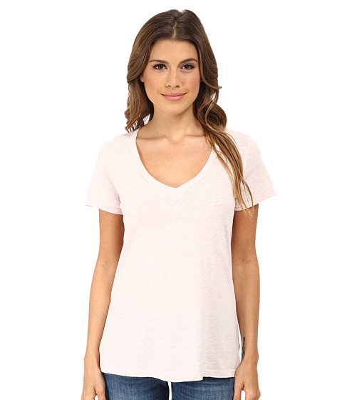 Velvet by Graham & Spencer - Lilith V-Neck Basic Tee (Allure) Women