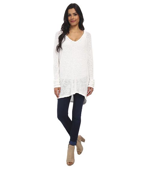 Velvet by Graham & Spencer - Klara Cotton Crochet Long Sleeve Top (White) Women's Clothing