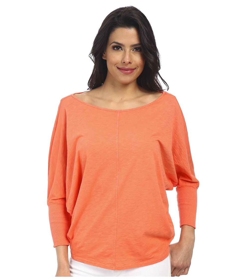 Velvet by Graham & Spencer - Joss Long Sleeve Top (Kumquat) Women's Clothing