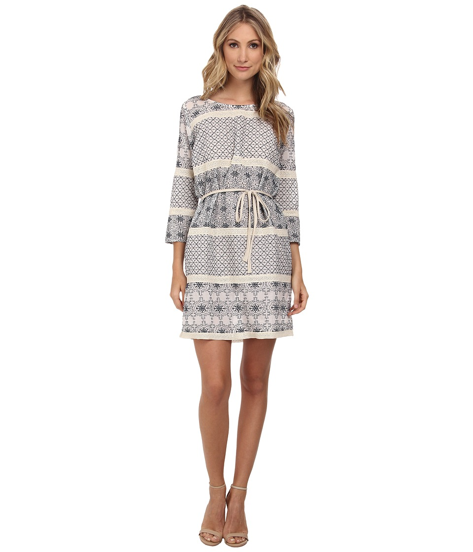 Velvet by Graham & Spencer - Amiya Embroidered Dress (Blue) Women's Dress