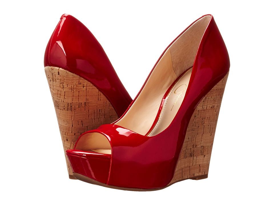 Jessica Simpson - Bethani (Red Muse Patent/Cork) Women