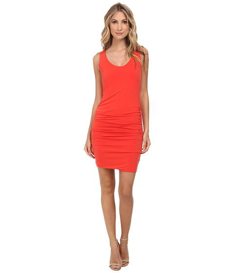 Velvet by Graham & Spencer - Bonte Scoop Neck Dress (Crimson) Women