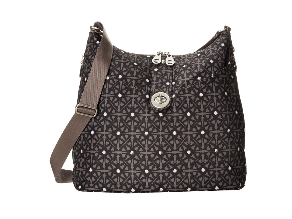 Baggallini - Helsinki Bagg (Safari Print In Pewter) Cross Body Handbags